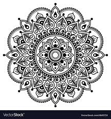 Henna Pattern Magnificent Mehndi Indian Henna Tattoo Pattern Or Background Vector Image