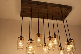 one other image of out of doors mason jar chandelier