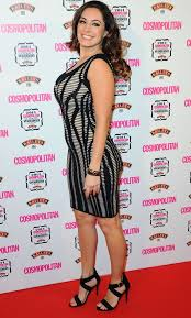 The elegant dress had a square neckline and puffed sleeves. Kelly Brook Flaunts Her Curves In Sexy Bodycon Dress At Cosmo Awards Celebrity News Showbiz Tv Express Co Uk
