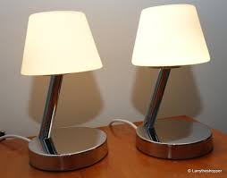 2 x john lewis penny white chrome touch control lamps with bulbs