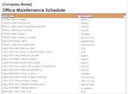 Machine Maintenance Schedule Template Building Plan Free Download