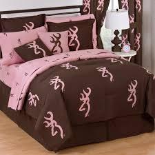 pink and brown comforter sets queen browning buckmark reversible set free 18