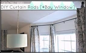 bay window curtain rod. DIY Curtain Rods [Sliding Glass Door \u0026 Bay Window] Window Rod