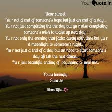 D Day Quotes Gorgeous Dear Sunset Yu R Not D Quotes Writings By Kiran Ojha