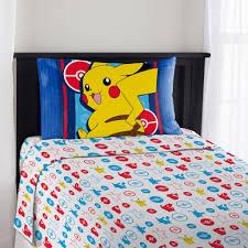 cheerful kids bedroom interior decorating with pokemon barcelona duvet cover bedding set