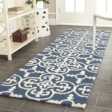 interior genuine safavieh handmade moroccan cambridge navy blue wool rug ivory 5 ft x 8
