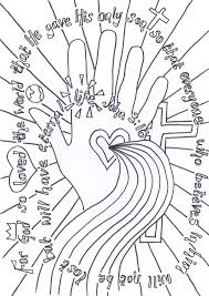 Flame Creative Childrens Ministry John 316 Verse To Colour