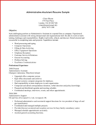 Elegant Assistant Resume Objective Excuse Letter