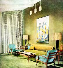 Small Picture Living Room 1955 Mid century decor Vintage interiors and Mid