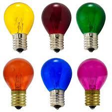 multi color light bulb variety pack 10 watt s11 intermediate base 25 light bulb colors p40