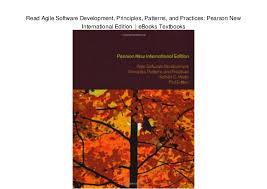 Agile Software Development Principles Patterns And Practices Read Agile Software Development Principles Patterns And Practices