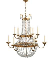 visual comfort chc1508ab sg e f chapman paris flea market 12 light 40 inch antique burnished brass chandelier ceiling light in antique burnished brass