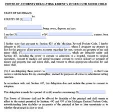 Sample Of Power Of Attorney For Child - Tier.brianhenry.co