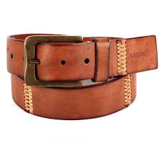 handmade hand colored vintage tan casual leather belt
