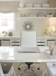 white home office. inspiration for a contemporary home office remodel in orange county white