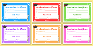 free preschool certificates free editable graduation certificates primary