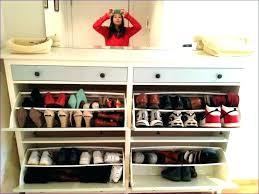 wall mounted shoe cabinet slimline storage unit shelving bm