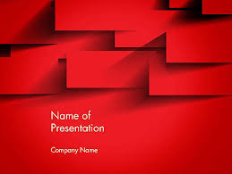 Red Square Paper Cuts Abstract Powerpoint Template Backgrounds