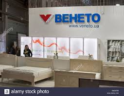 kiev ukraine march 14 visitors visit veneto furniture pany booth HMC07W