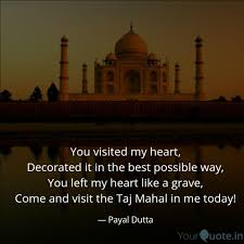 Best Tajmahal Quotes Status Shayari Poetry Thoughts Yourquote