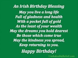 Birthday Blessing Quotes Custom Irish Birthday Blessing YourBirthdayQuotes
