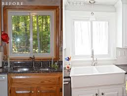 White painted kitchen cabinets before and after Design Ideas Elle Decor Diy White Painted Kitchen Cabinets Reveal