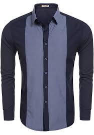 Designer Shirt With Holes Hotouch Mens Fashion Designer Shirts Blue S