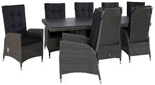 Essgruppe Barcelona Dining 8 Stühle Und Tisch Polyrattan Alu Grau