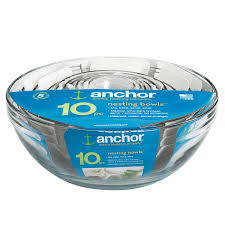 anchor hocking 10 piece glass mixing bowl set free today 7873777