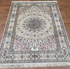 new 6 x4 decorative floor hand knotted silk carpet handmade turkish rugs y196b