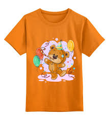 """Детская футболка классическая унисекс """"<b>Мишка Тэдди</b> ..."""