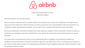 Welcome Letter Template Airbnb Welcome Letter Template With Download Welcome