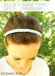 diy braided t shirt headband tutorial