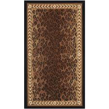 safavieh chelsea leopard black brown indoor handcrafted lodge throw rug common 3 x