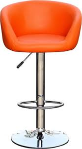 Tuscany Orange Padded Kitchen Bar Stool Height Adjustable