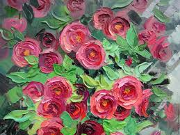 oil painting red roses dubinina ksenya my livemaster