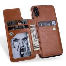 flip leather case for apple iphone 6 6s plus 7 7 plus 8 8 plus iphone x samsung s8 s8 plus note 8