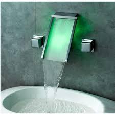 bathroom faucet led waterfall wall mount
