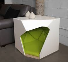 geometric furniture. doghouse in living room context geometric furniture g