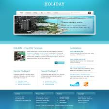 Free Website Templates Template 24 Holiday 7