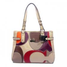 Coach Big Logo Large Ivory Totes DXU