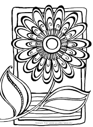 abstract flower coloring pages free printable