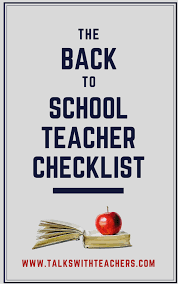 The Essential Back To School Checklist For Teachers Talks With