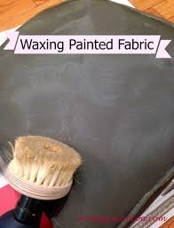 waxing painted fabric from mommy is coocoo can you paint leather furniture