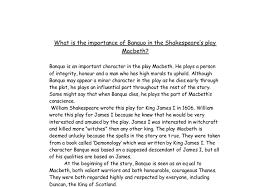 what is the importance of banquo in shakespeare s play macbeth  document image preview