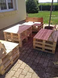 garden furniture from wooden pallets. patio furniture set made from pallets garden wooden