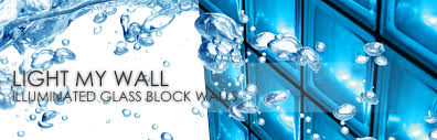 light my wall illuminated glass block walls
