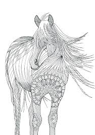 Horse Coloring Picture Adult Coloring Book Printable Coloring Pages
