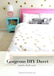 how to make a duvet cover easy painted dot covers queen pottery barn diy bedrooms go