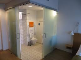 icelandair hotel reykjavik marina glass walled sliding glass doors bathroom